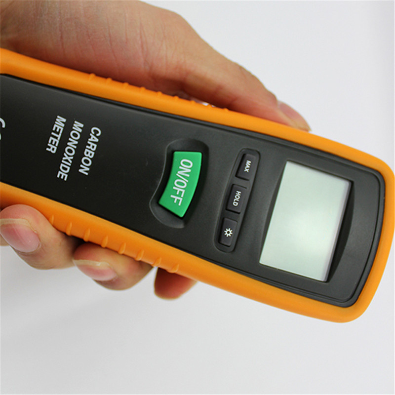 Digital Co Gas Detector Home Security with Alarm Portable Handheld LCD Display High Sensitive Carbon Monoxide Meter