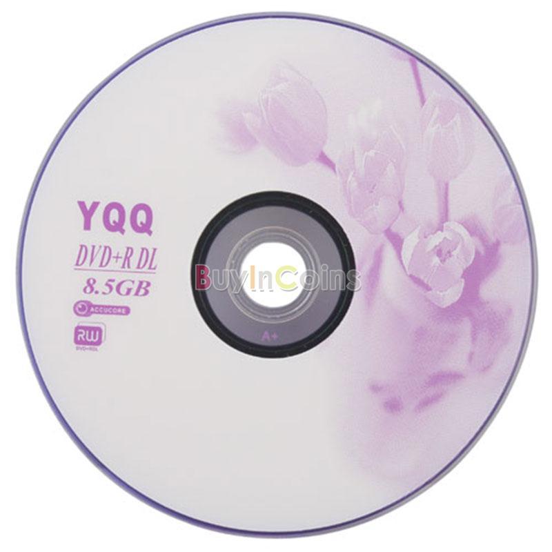 5Pcs New 8X Blank Recordable Printable DVD R DVDR Disc Disk Media 85GB 10407