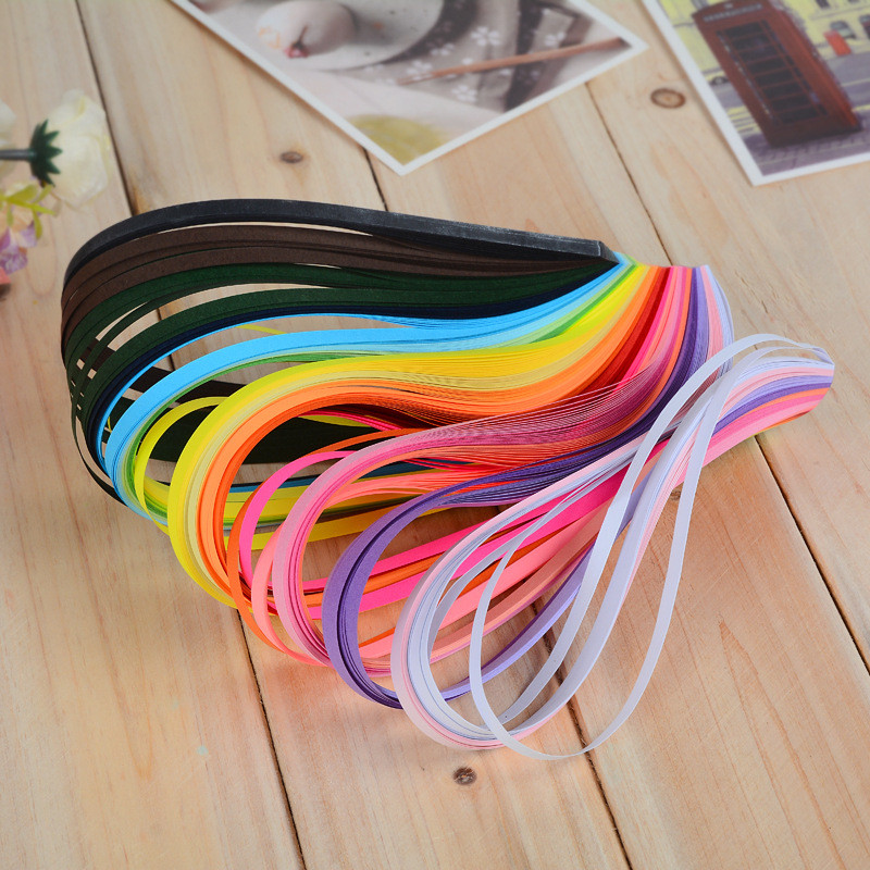 260 Pcs Width 3mm/ 5mm/ 7mm/ 10mm Length 39cm Stripes Quilling Paper Assorted Color Origami Paper Craft DIY