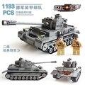 82010 1193pcs Century Military Tanks Building Blocks Compatible With kid gift DIY Blocks Century Military PZKPFW-II Tanks Toys
