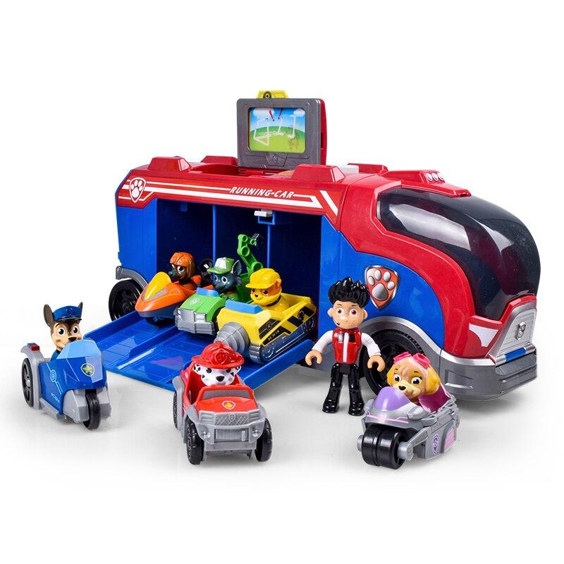 Pat' patrouille sauvetage Bus chien Patrulla canina jouets Anime véhicule voiture en plastique jouet Action Figure modèle cadeaux d'anniversaire jouet pour enfant