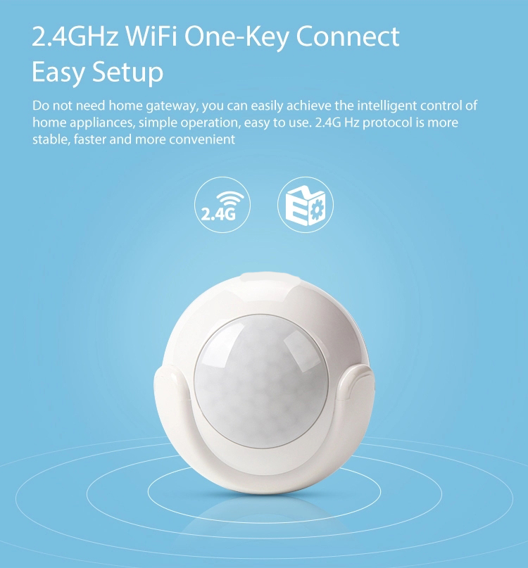 US $16 37 |Wireless Wifi PIR Sensor Motion Detector 2 4GHz for alarm Easy  installation on wall or any surface-in Building Automation from Security &