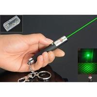 Alta potência mini 532nm 5 mw 2in1 ponto ou estrela verde laser ponteiro luz caneta aaa bateria com chaveiro chaveiro|Adaptadores AC/DC| |  -