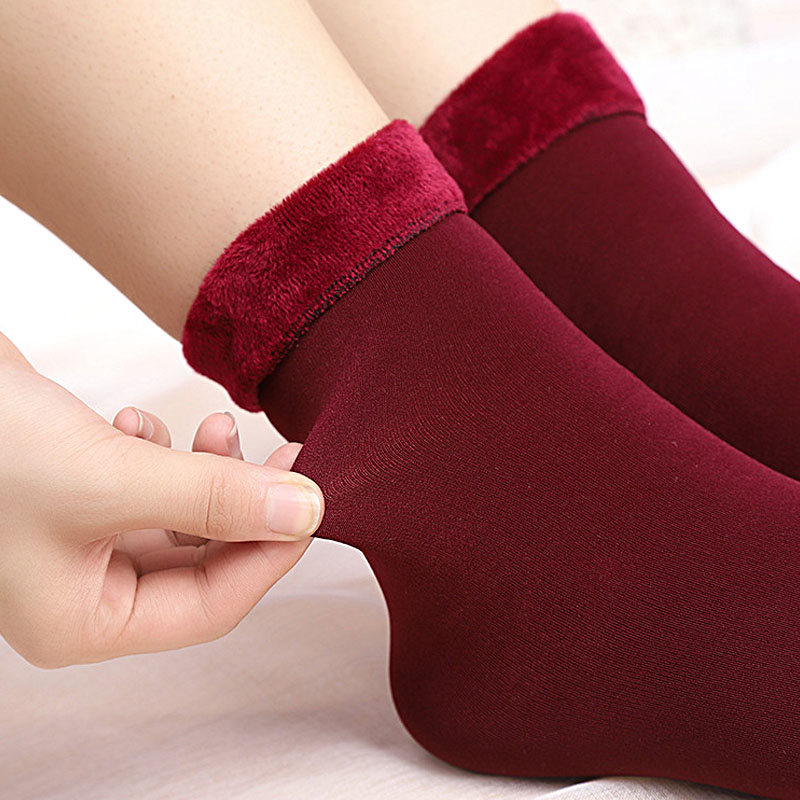 HTB1IHFkX5LxK1Rjy0Ffq6zYdVXay - Thickening Cashmere Snow Socks Men Women's Autumn And Winter Warm Velvet Solid Casual Thermal Keep Sleeping Socks