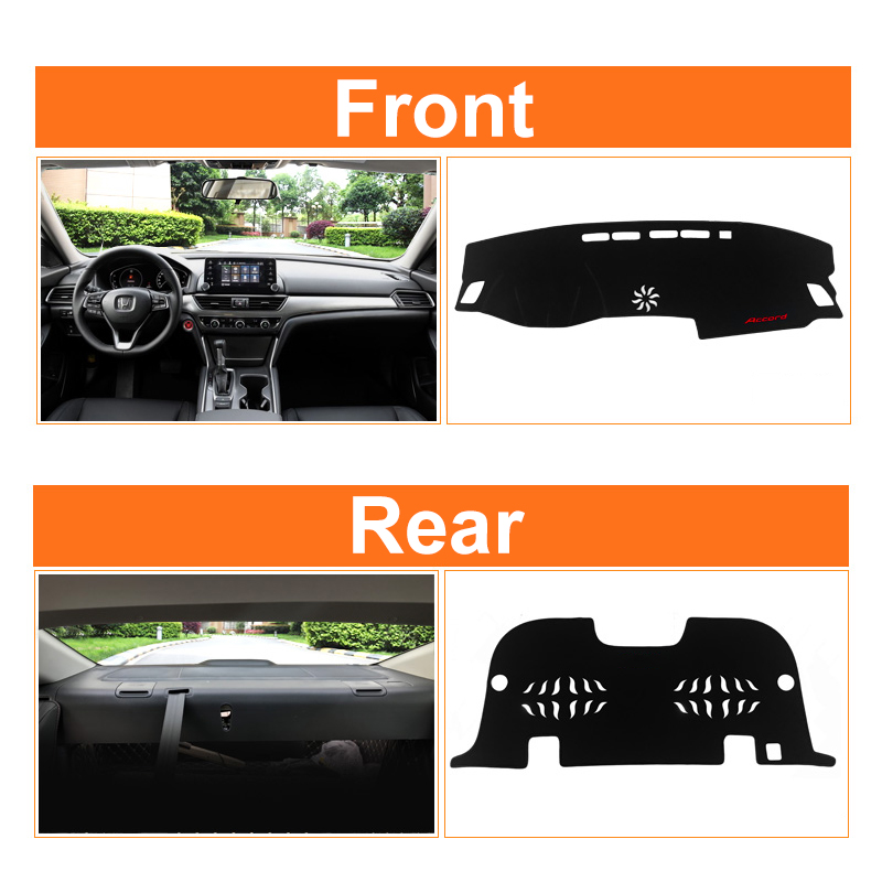 Image 3 - Car dashboard Avoid light pad Instrument platform desk cover Mats Carpet Anti UV LHD For Honda Accord 10th 2018 2019 Accessories-in Interior Mouldings from Automobiles & Motorcycles