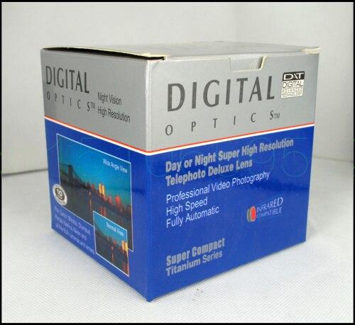 Téléobjectif 72mm 2.0X TELE pour appareil photo numérique 2X72 noir