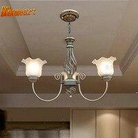 3 Heads Suspension Antique Iron Chandelier Lighting 110V 220v E27 LED Lamp Vintage Home Lighting Living