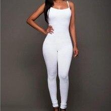 #1720 Jumpsuits for women 2016 Black/White jumpsuit women Fashion Catsuit Body feminino Cropped One piece Bandage jumpsuit
