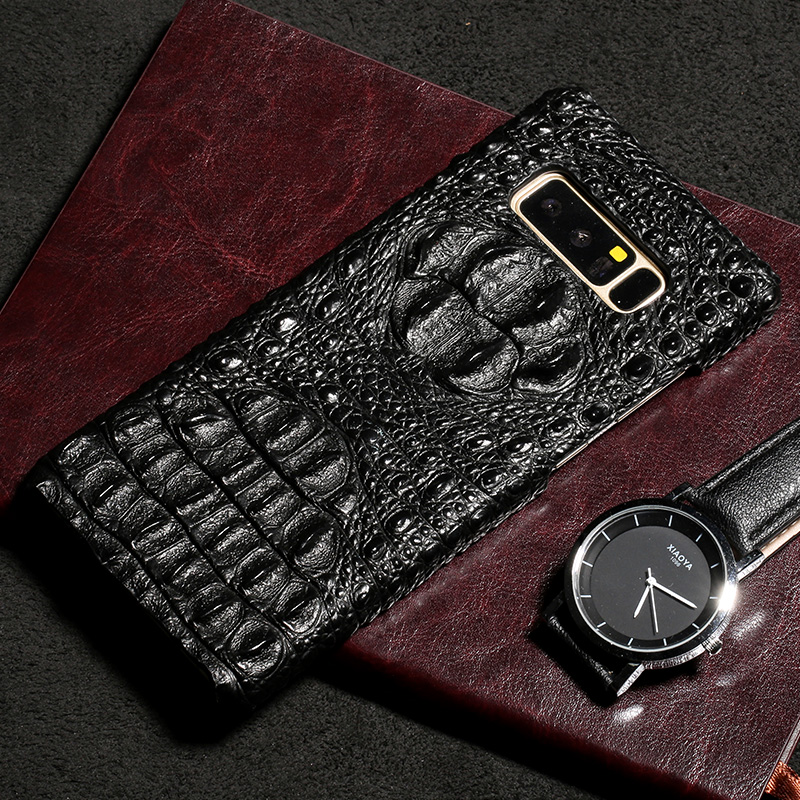 Luxury Phone case For Samsung S6 S7 Edge S8 S9 Plus Note 8 9 Case Crocodile Texture cover For A3 A5 A7 A8 2018 J5 J7 2017 case in Half wrapped Cases from Cellphones Telecommunications