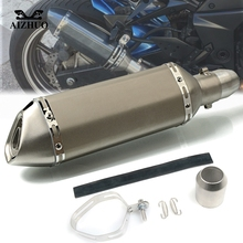 купить Motorcycle Exhaust pipe Muffler Escape DB-killer 36MM-51MM FOR HONDA CBF1000 VF750S VFR750 VFR800 VTR1000F CRF1000L CB300FA по цене 4689.45 рублей