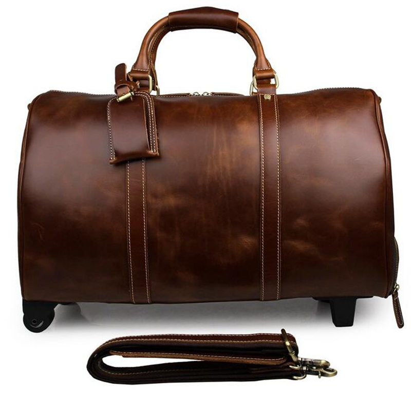 2d1473ff5cb6 Aliexpress.com   Buy LEXEB Trolley Luggage Travel Bags Men s Genuine Leather  Suitcases On Wheels Road 20