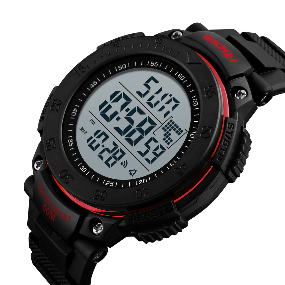 <font><b>SKMEI</b></font> <font><b>1238</b></font> Men Qutdoor Sport Electronic Watches 3D Pedometer Multifunctional Waterproof LED Digital Wristwatch Relogio Masculino image