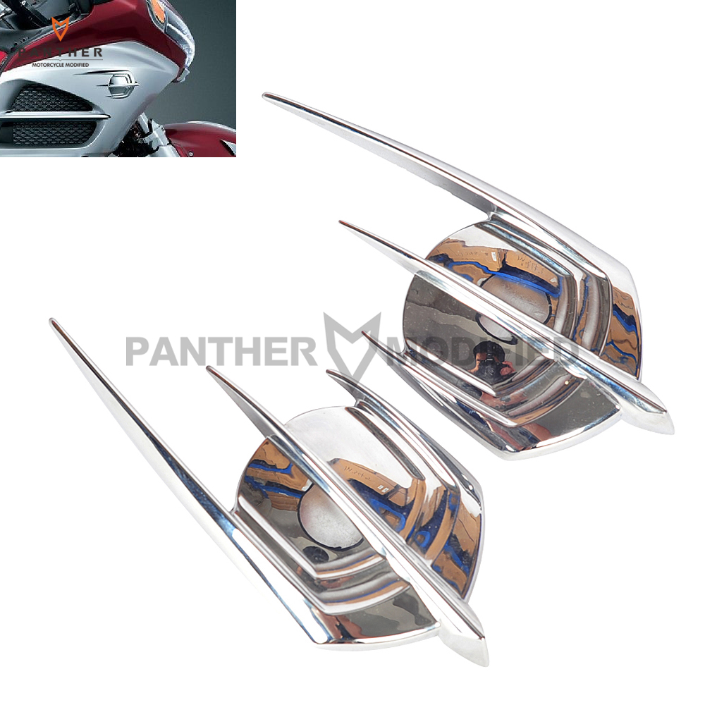 Motorcycle Chrome Falcon Fairing Emblem Cover Case for Honda Goldwing 1800 GL1800 2012-2013Motorcycle Chrome Falcon Fairing Emblem Cover Case for Honda Goldwing 1800 GL1800 2012-2013