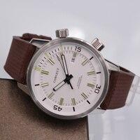 Automatic Watch Men's Watches corgeut Mechanical Watch Men rubber Self Wind Waterproof Male Clock Relogio Masculino