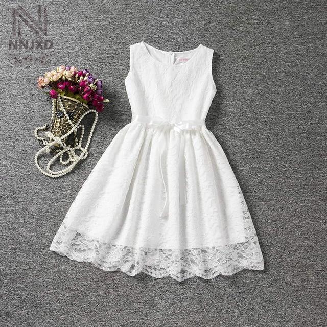 vintage infant princess lace white wedding dress children