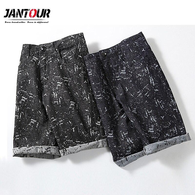 2019 new summer Men's Denim Shorts Good Quality Short   Jeans   Men Cotton Solid Straight Short   Jeans   Male Blue Casual Short   Jeans