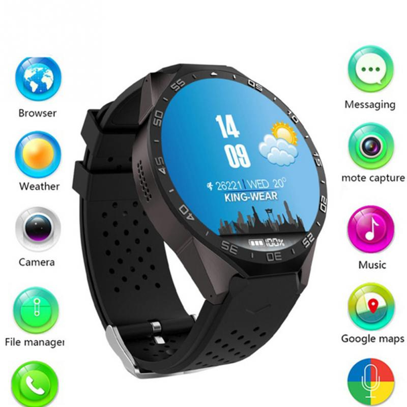 Original KW88 Screen Touch Smartwatch Heart Rate Monitor Social Entertainment Tracker and Fitness Smart Devices цена