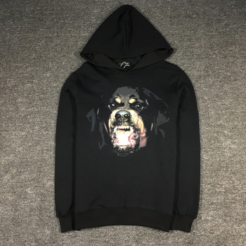 New luxury High Rottweiler Classic Unisex Hoodies Hoody hooded Sweatshirts velvet Cotton Drake Thicken Fleece S-2XL #C76