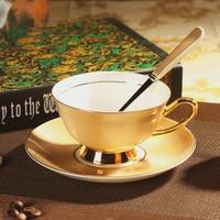 European Royal Bone China Ceramic Tea Cup Coffee Cup,Gold