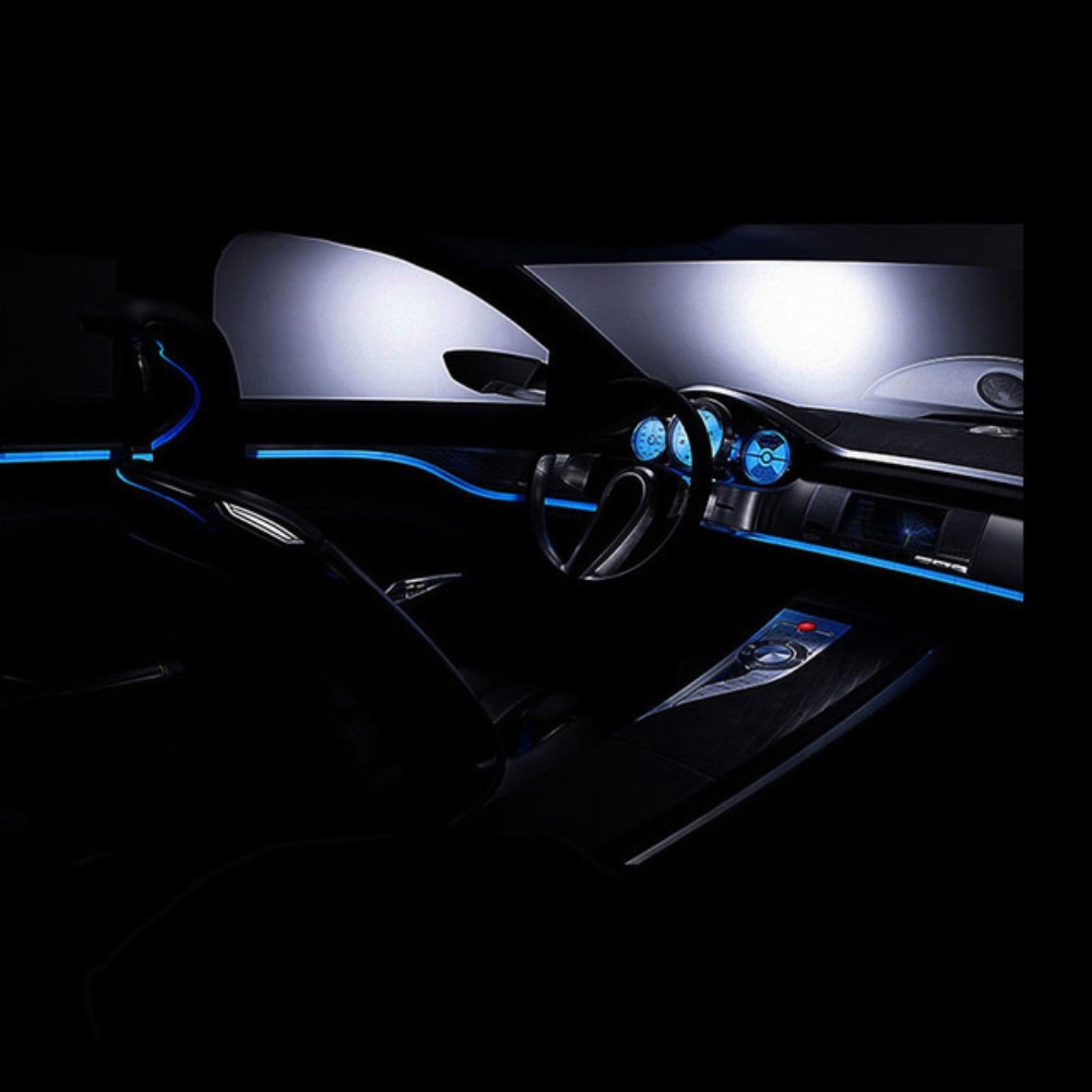 hight resolution of new 8 colours flexible electroluminescent tape el wire glowing with dc 12v cigarette lighter car interior decoration lights
