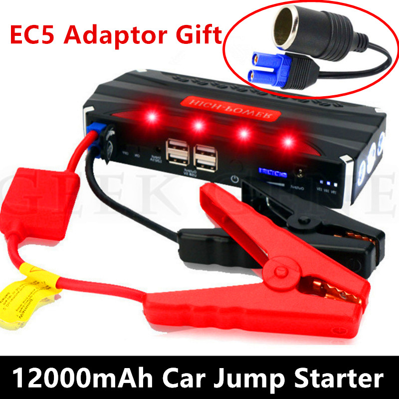 2017 Car Jump Starter 600A Pack 12V Portable Power Bank Charger Car Starter Battery Booster Buster