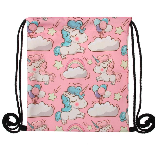 Feminina backpack with 3D Unicorn print