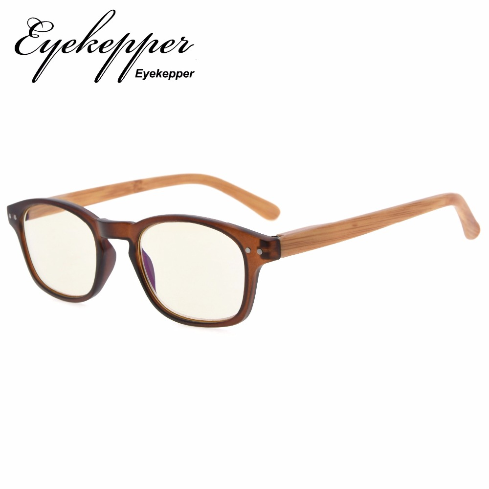 CG034 Eyekepper Bamboo-look Temples UV Protection Eyeglasses,Anti-reflective Readers