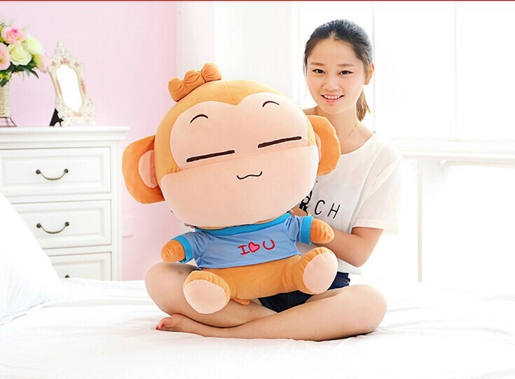 60 cm belle singe en peluche jouet yoyo singe poupée coussin cadeau d'anniversaire w6292