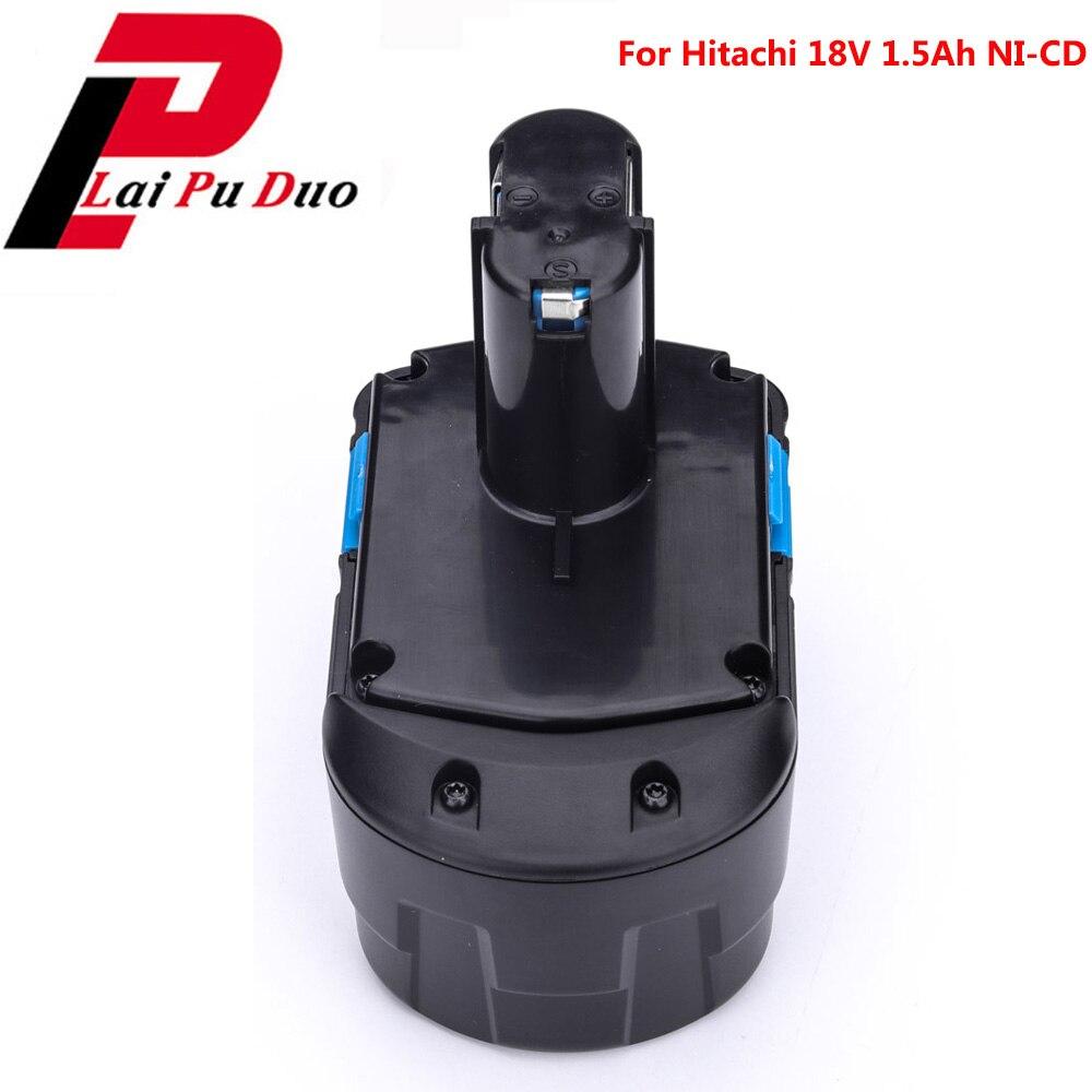 Pour Hitachi batterie outil électrique 18 V NI-CD 1.5Ah perceuse Rechargeable: EB1820 EB1814 EB1826HL EB1830H 322437