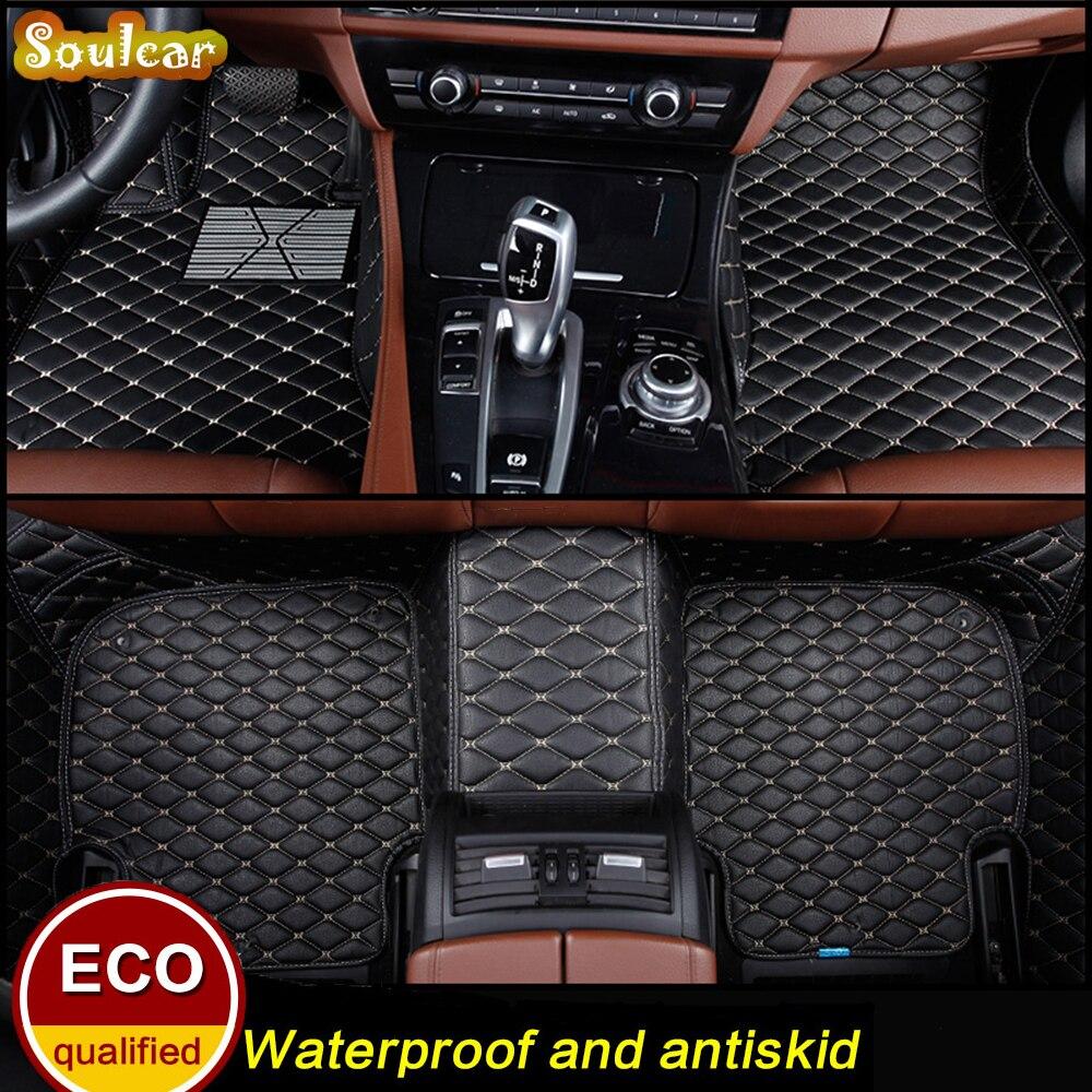 Custom fit Car floor mats for Cadillac ATSL CT6 CTS SLS SRX XTS Escalade 2004-2017 3d car-styling car floor carpet Liners