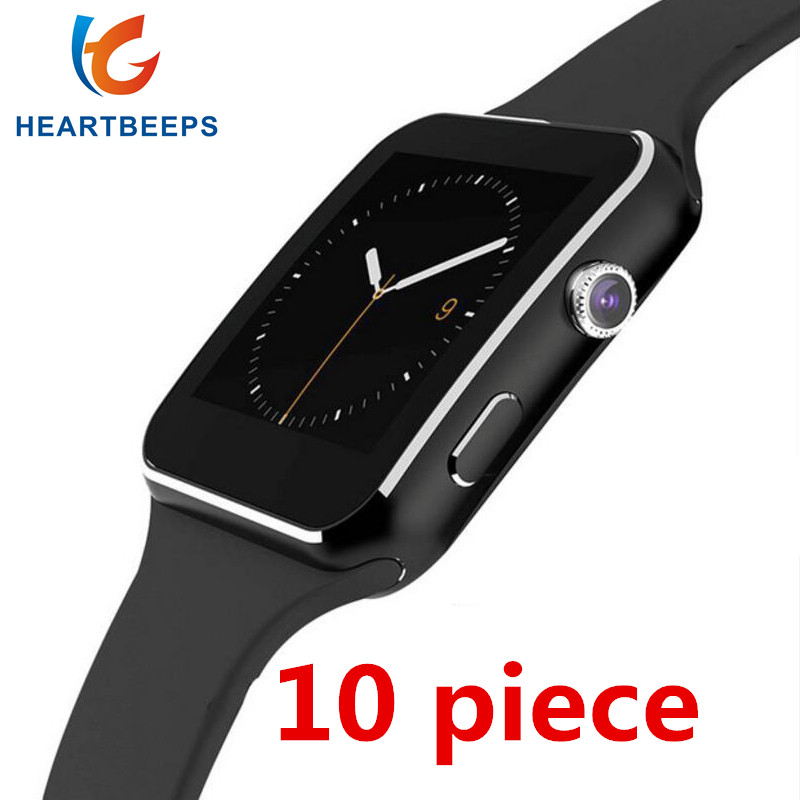 10piece Bluetooth Smart Watch X6 Sport Passometer Smartwatch with Camera Support SIM Card Whatsapp Facebook for Android Phone