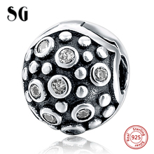 Cubic Zirconia Charms Beads Fit Authentic pandora Charming Bracelets Necklace for Women 925 Sterling Silver Jewelry gifts
