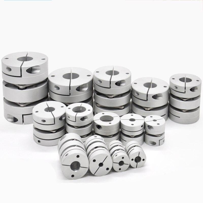 Acoplamiento de servo motor de acoplamiento de un solo diafragma y doble diafragma de aleación de aluminio, tornillo de alto par, acoplamiento elástico|Acopladores de eje| - AliExpress