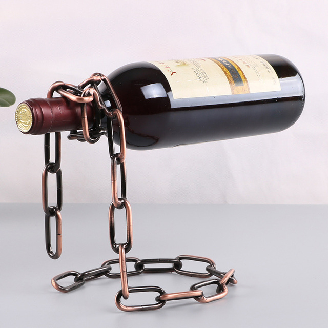 Magical Chain Or Rope Wine Bottle Holder 2