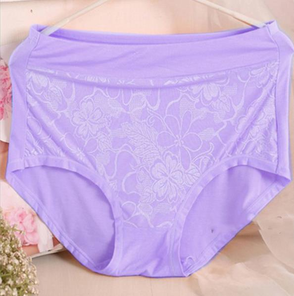 AS07 2018 Mother Underwears Plus Size M-6XL Hight Waist   Panties   Women Briefs Lace Flower Sexy Lingerie Underwears
