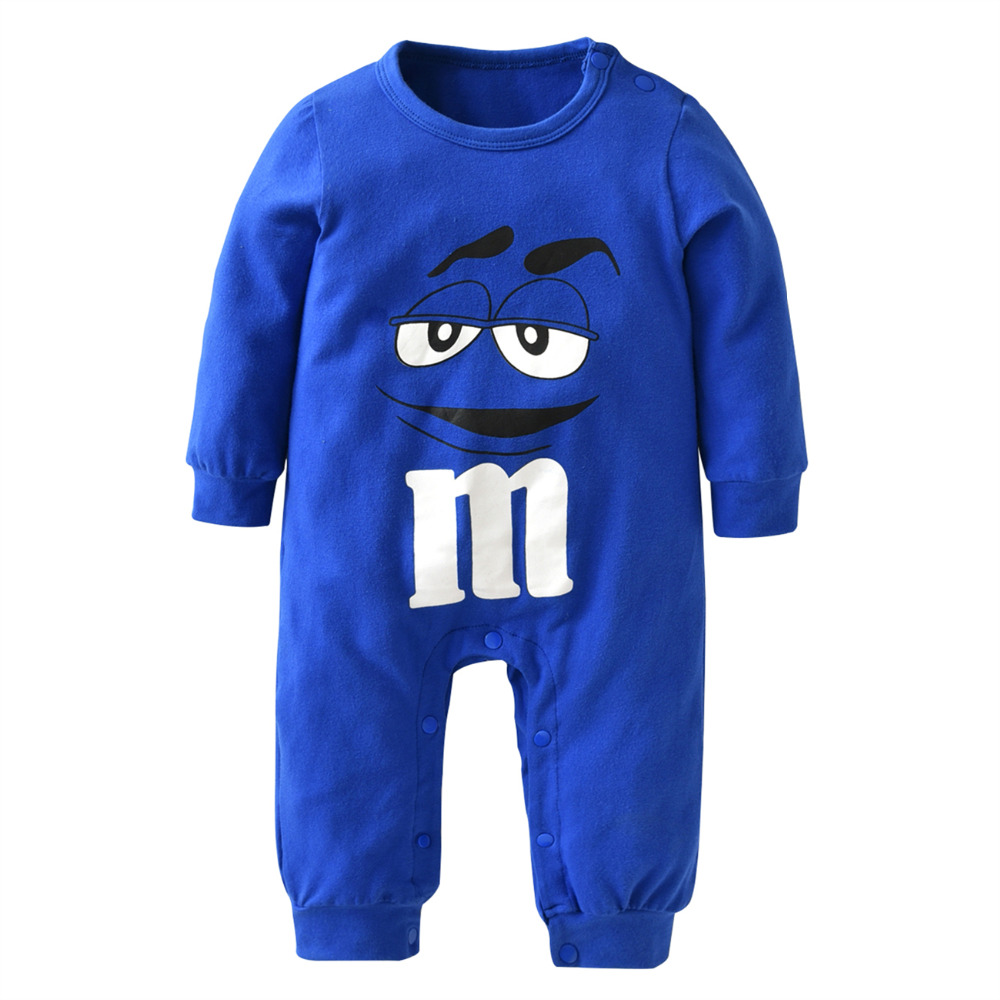 2017-New-fashion-baby-boys-girls-clothes-newborn-blue-and-red-Long-sleeve-Cartoon-printing-Jumpsuit-Infant-clothing-set-1