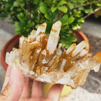 336g Beautiful rough Specimen gemstone druse Natural raw quartz crystal cluster point sample cluster fengshui decor