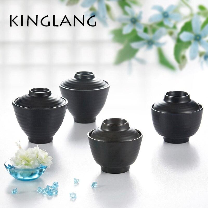 Kinglang Melamine Plastic 2 Color Soup Bowl with Lid J90