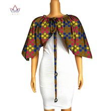 Hitarget 2019 African Shawl Necklaces for Women Print Cotton Chokers Cape Ankara Tribal Handmade False Collar WYB242