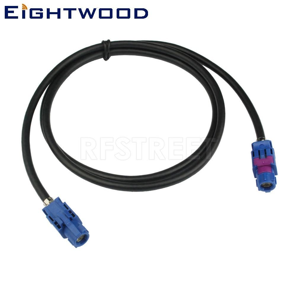 Eightwood FAKRA HSD C Bleu Signal LVDS 120 cm Blindé Dacar 535 4-Core Câble Nouveau Véhicule Haute- vitesse de Transmission