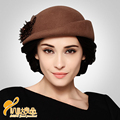 Ano novo Mulheres Senhora Do Vintage Na Moda Bonito Chapéu de Feltro de Lã Fedora Bowler Hat Cap Derby Queda B-0776