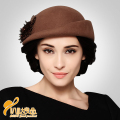 New Year Vintage Women Lady Cute Trendy Wool Felt Bowler Derby Hat Cap Drop Fedora Hat  B-0776