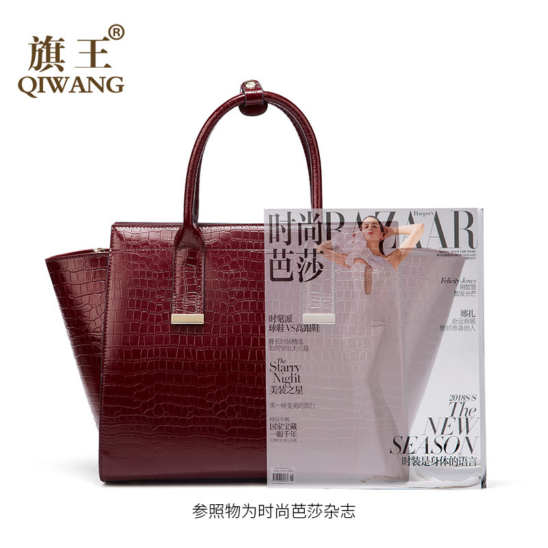Luksusowe torebki damskie torby projektant prawdziwej skóry torebka damska gorące czerwone wino krokodyla panie torba dla kobiet bolsa feminina w Torebki na ramię od Bagaże i torby na  Grupa 3