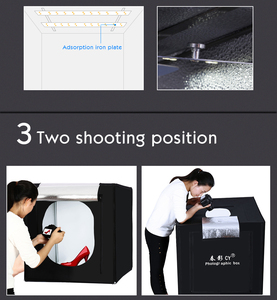 Image 4 - CY Professional 32 80x80x80cm Photo Studio light box LED soft box Shooting Light Tent photo box set for baby clothing lichtbak