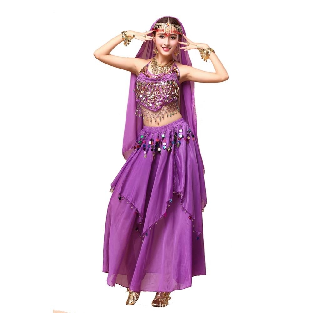 Egyptian Belly Dancer Costume 2pcs Top&Skirt Ropa Danza ...