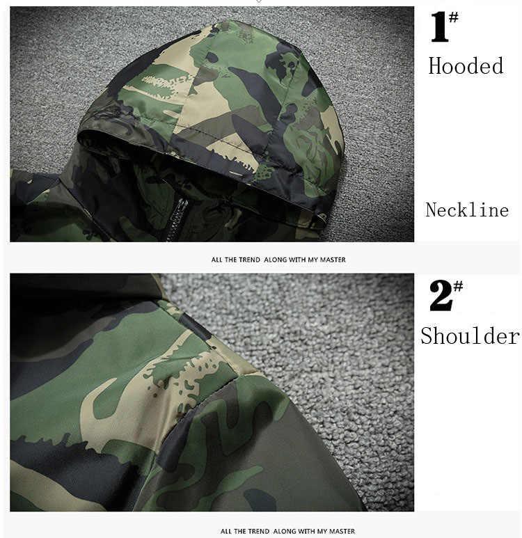 7XL Весенняя Мужская камуфляжная куртка хип хоп Уличная куртка-бомбер ветровка мужские куртки и пальто плюс размер куртка мужская, GA226