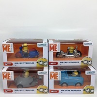 Mondo Motors Despicable Me Minion Die Cast Vehicles Minion Riding Motorcycle Car Toys Figures Collectible Model