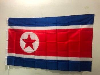 Bandera de Corea del Norte, bandera decorativa de actividades, 90x 150cm