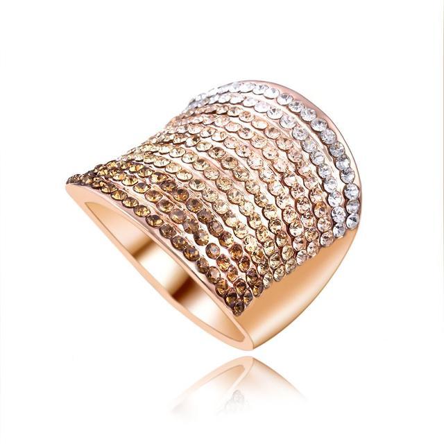 Gradient Austrian Crystal Engagement Ring