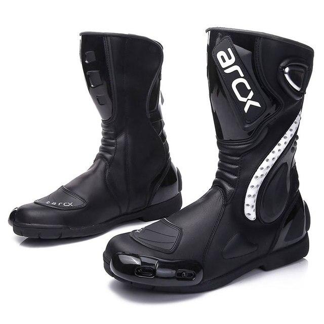 ARCX Motorcycle Boots Motocross Boots Men Waterproof Moto Boots Motorbike Riding Boots Black Botas Moto Motorcycle Shoes 4